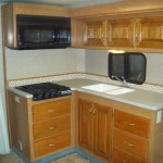 Finished slide-out room remodel on class a motorhome