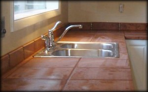 tiled RV countertops installed expertly by Hancock RV