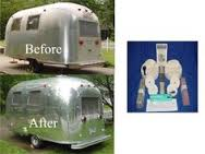 Before and after Airstream Polishing and buffing