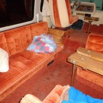 before and after Motorhome interior remodel