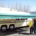 new motorhome awning installed by Hancock RV