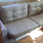refinished furniture in RV by Hancock RV