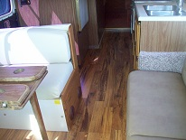 new flooring in rv repaired by Hancock
